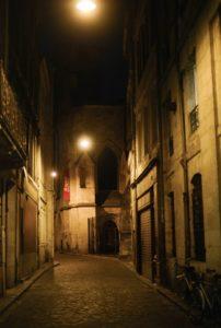 bordeaux stad avond